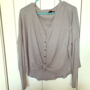 Out from under oversized thermal button up top